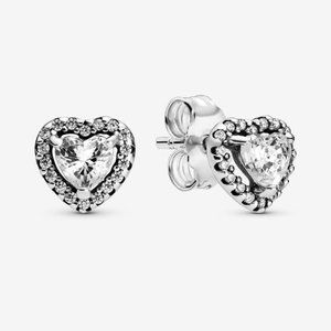 Pandora Elevated Heart Stud Earrings